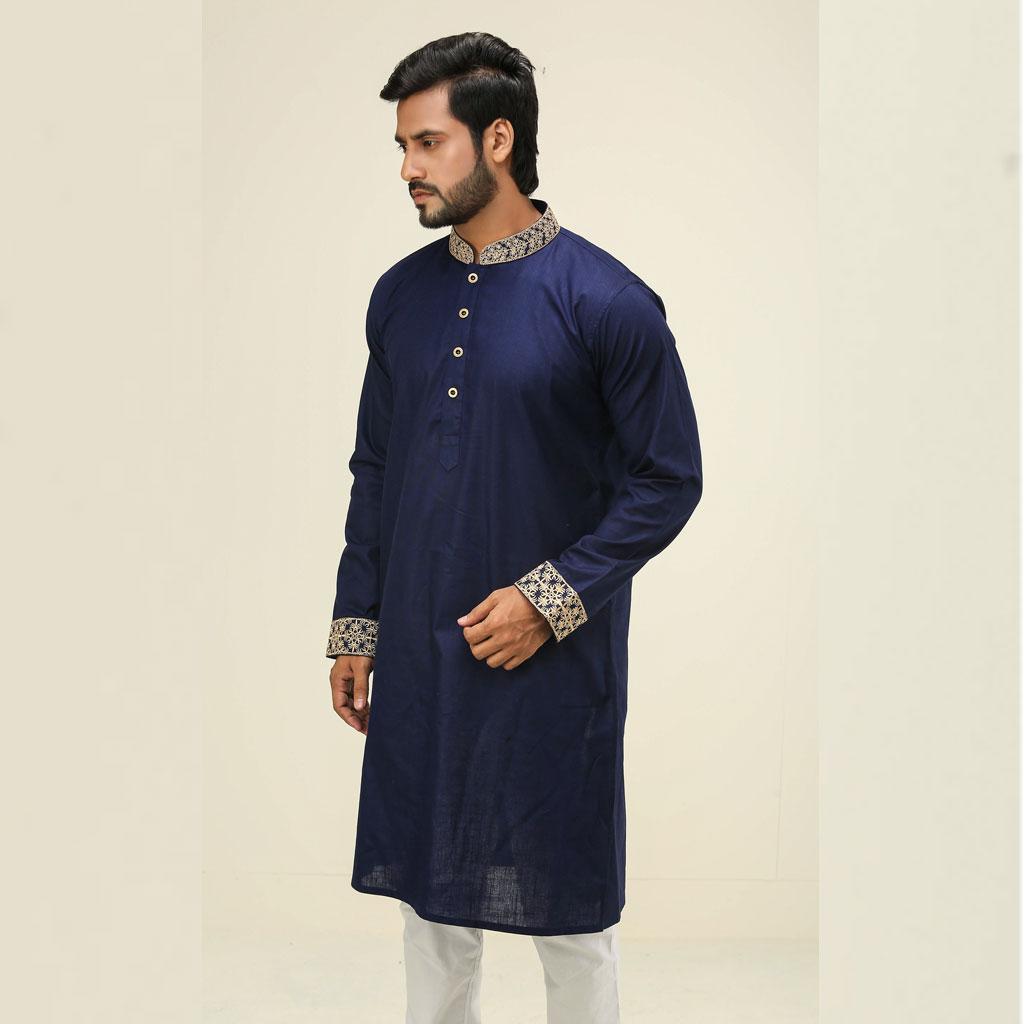 Khaki Punjabi For Men (navy Blue) - K-111