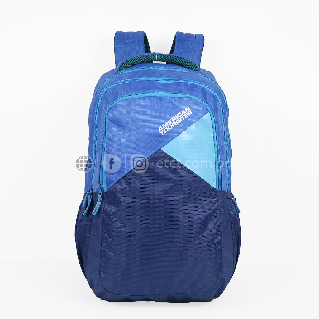 American Tourister At13bl 33l Nylon Fabric Super Light Weight School College Laptop & Travel Backpack