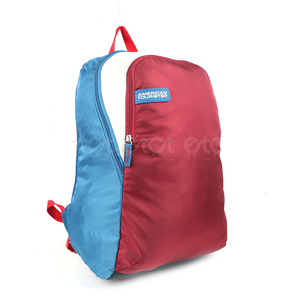 American Tourister At10blmw 22l Nylon Fabric Super Light Weight School College & Travel Backpack