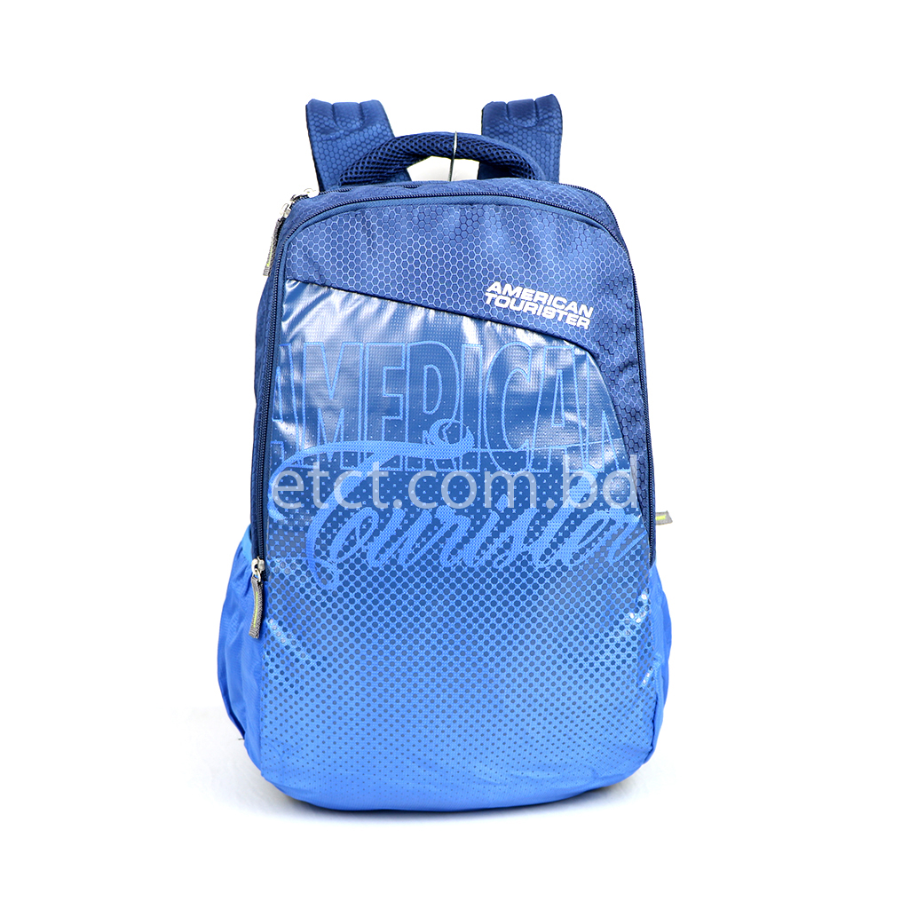 American Tourister At06nbbl 20l Nylon Fabric Super Light Weight School College & Travel Backpack