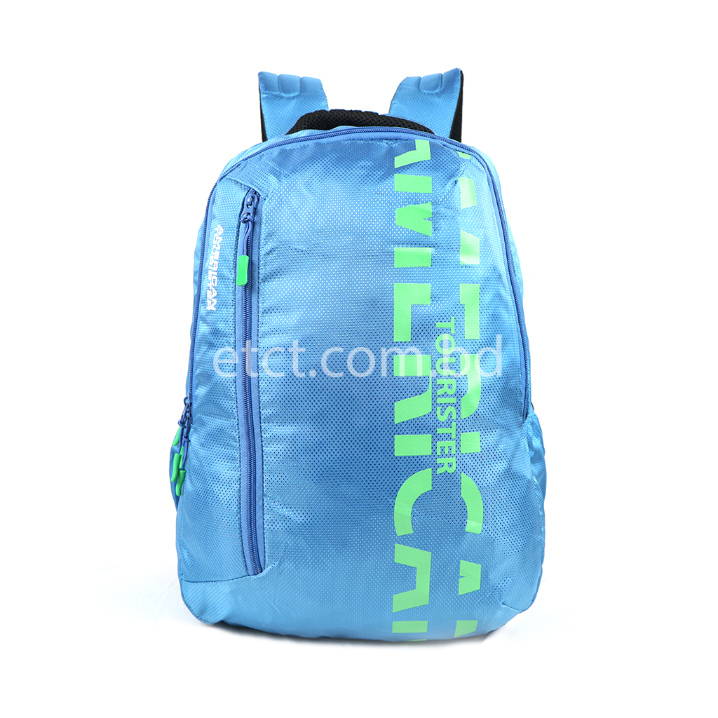 American Tourister At01lbl 27l Nylon Fabric Super Light Weight School College Laptop & Travel Backpack