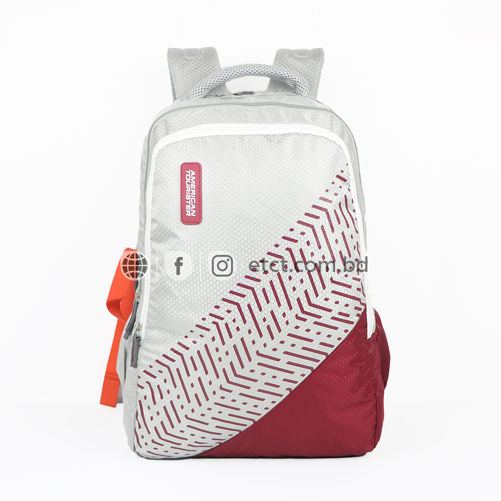 American Tourister At08am 20l Nylon Fabric Super Light Weight School College & Travel Backpack