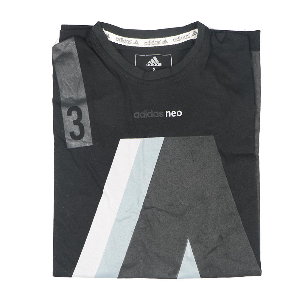 Adidas Men's Exclusive Stylish Round Neck T-shirts (black)