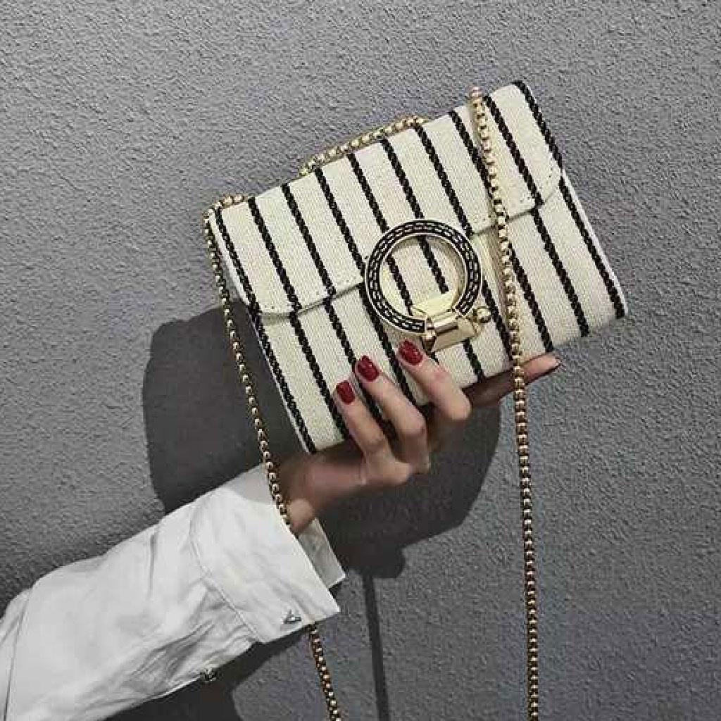 Women's Fashion Handbag (striped) - Tw73b998
