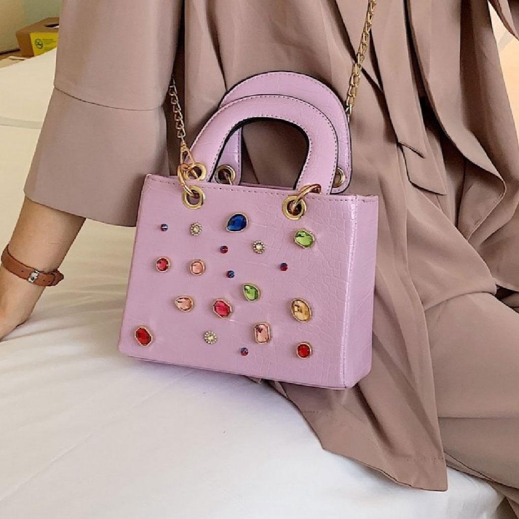 Crocodile Diamond Handbag (pink) - Wtl837709p