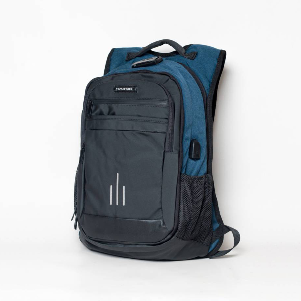 Spacetrek 19-716# 20l Stylish High Quality Anti Theft Laptop Office Backpack (blue)