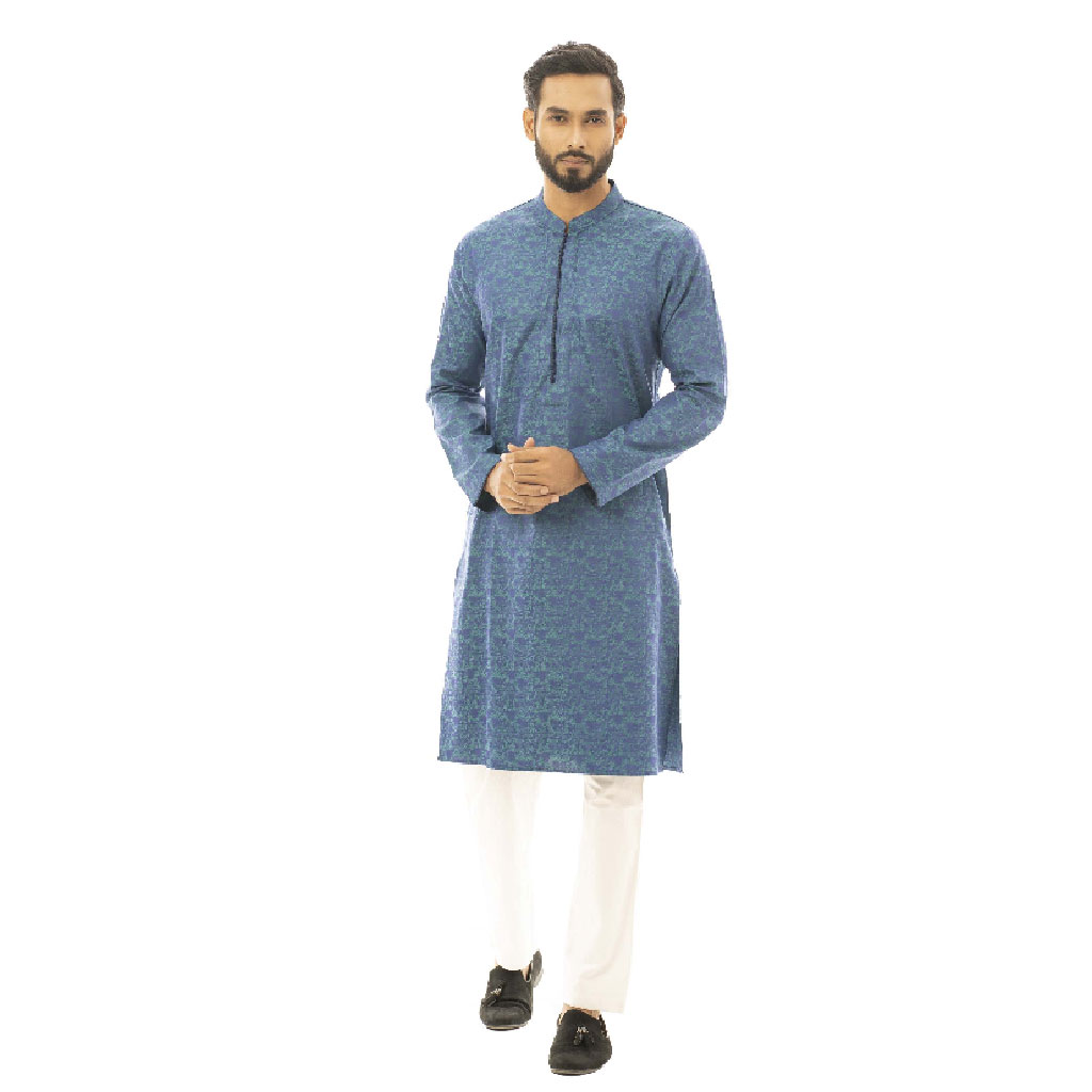 Twelve Premium Printed Punjabi For Men - Green