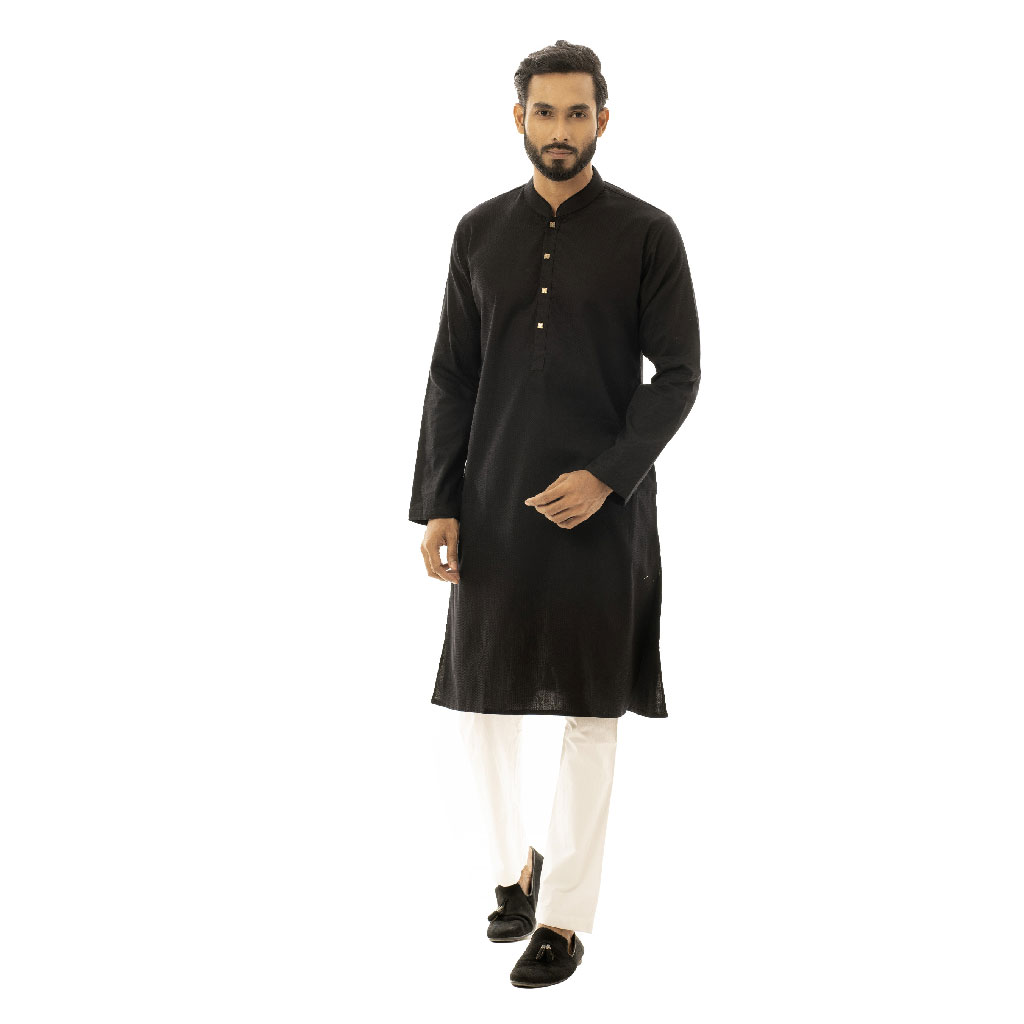 Twelve Premium Punjabi For Men - Black