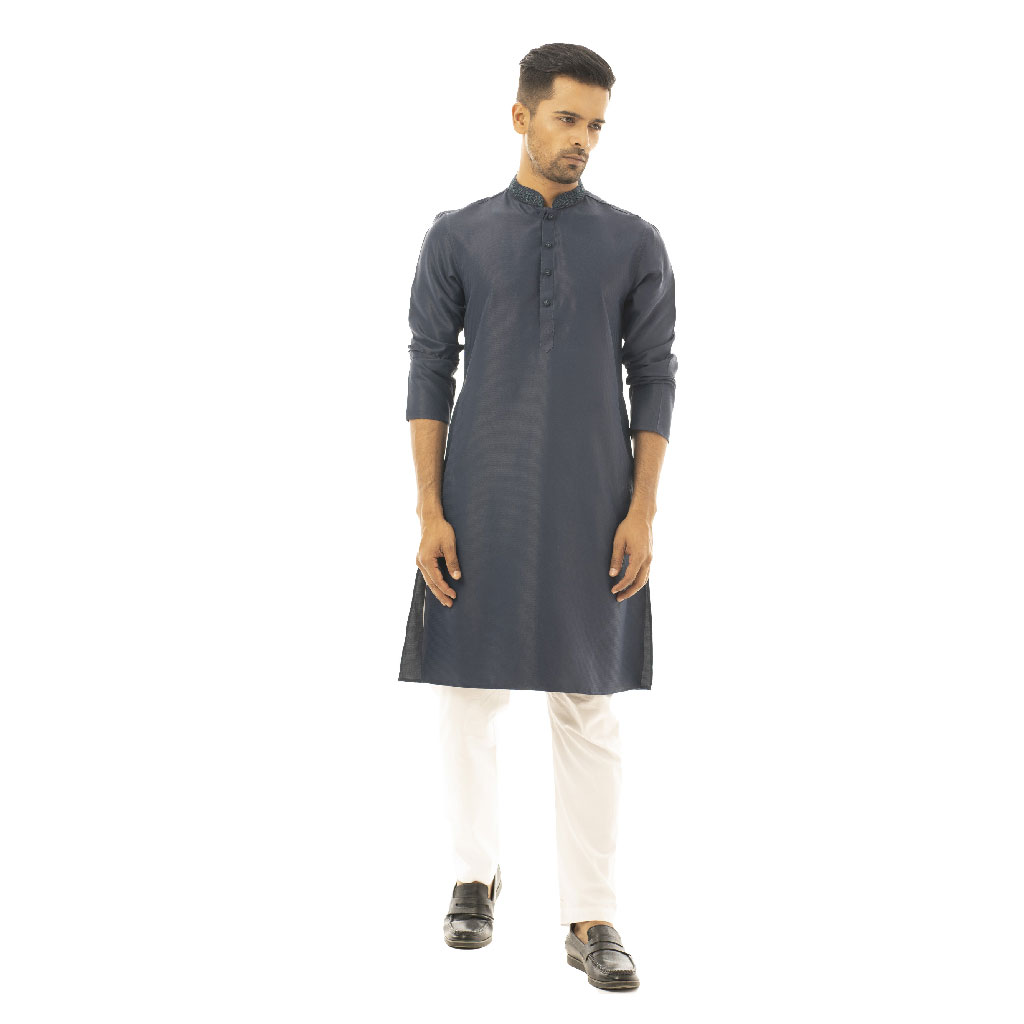 Twelve Premium Punjabi For Men - Navy Blue