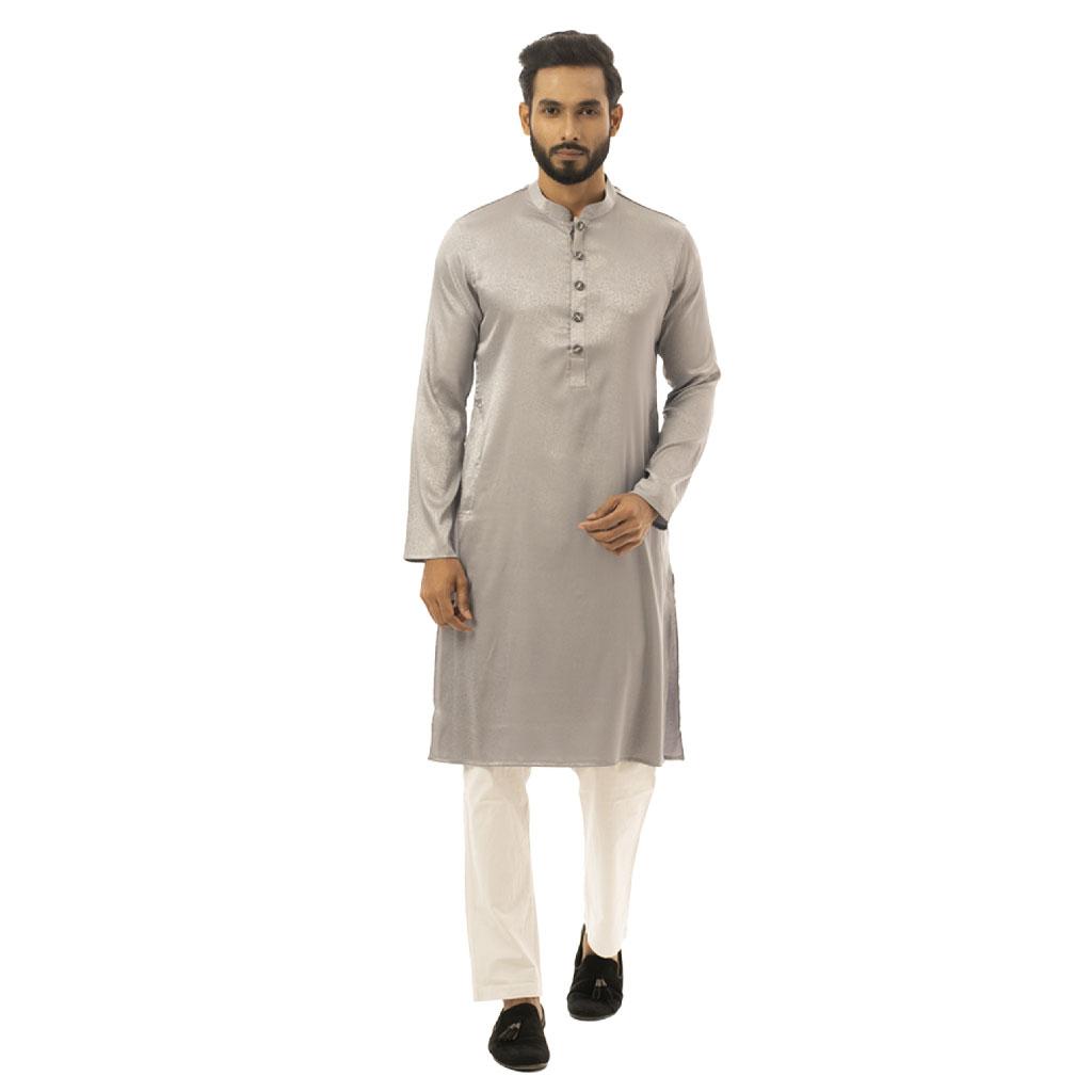 Twelve Premium Punjabi For Men - Ash