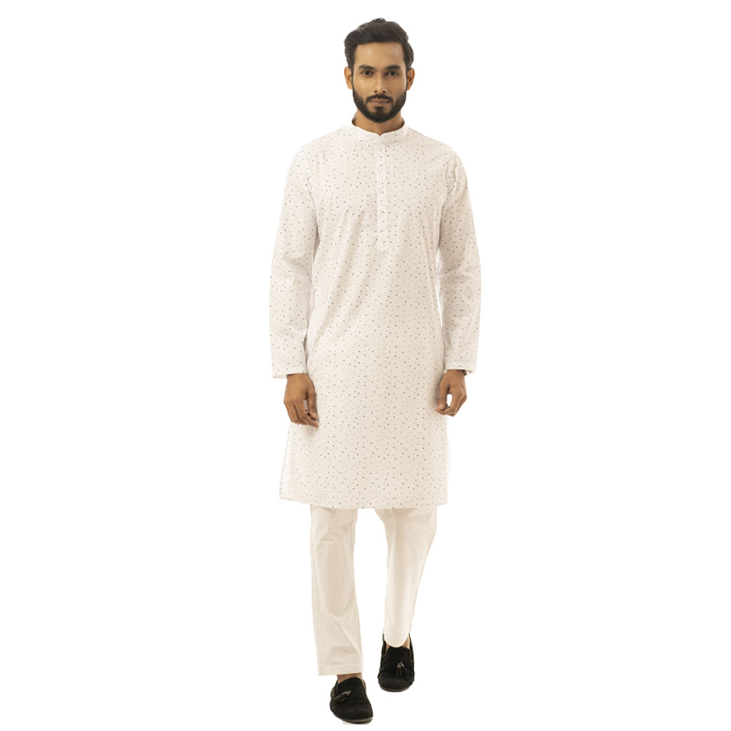 Twelve Premium Punjabi For Men - White
