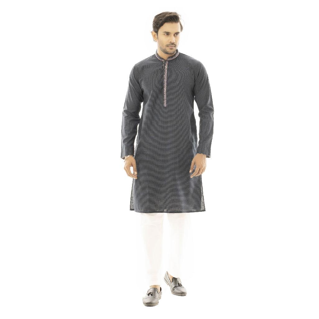 Twelve Premium Punjabi For Men - Navy Blue