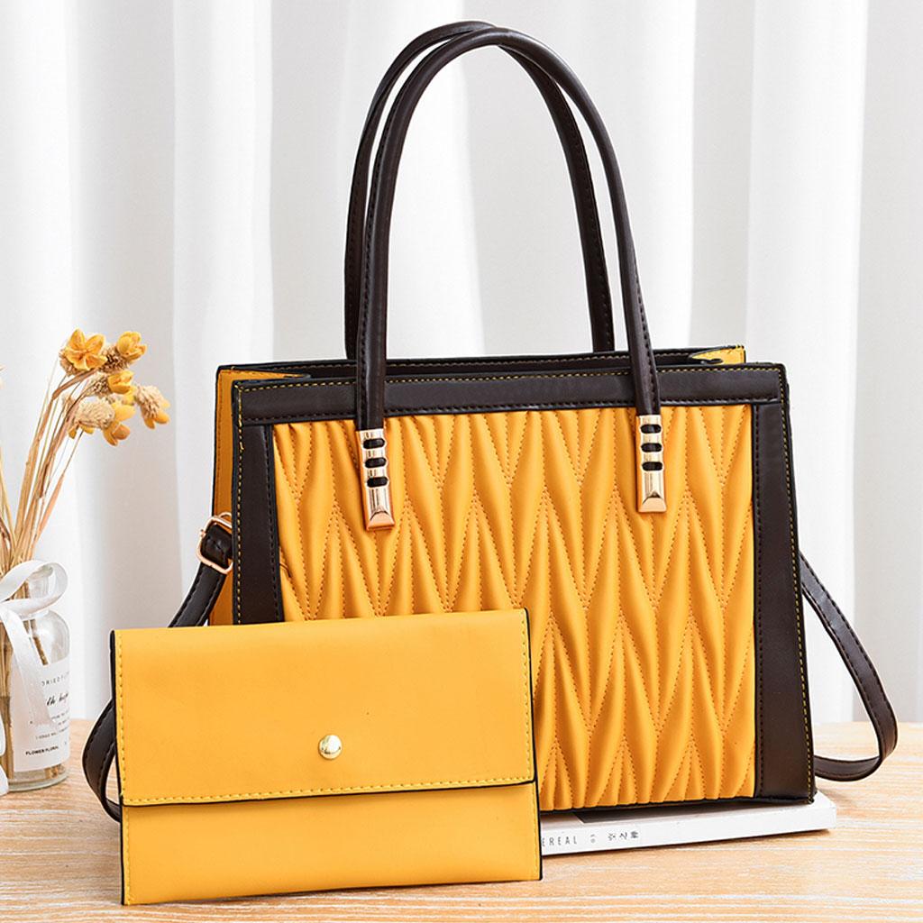 Dual Messenger Dl096 Handbags - Yellow
