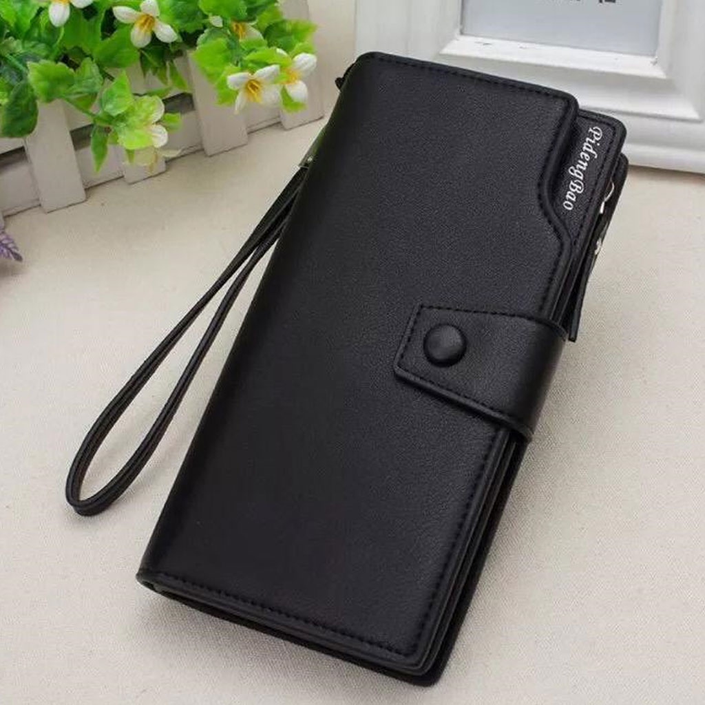 Fashion Pu Leather Ladies Wallet - Black