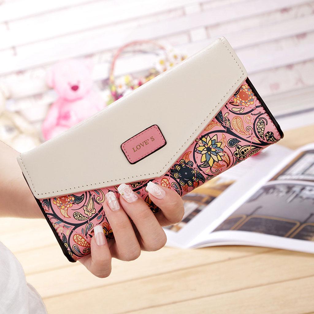 Color Blocking Wallet - Pink