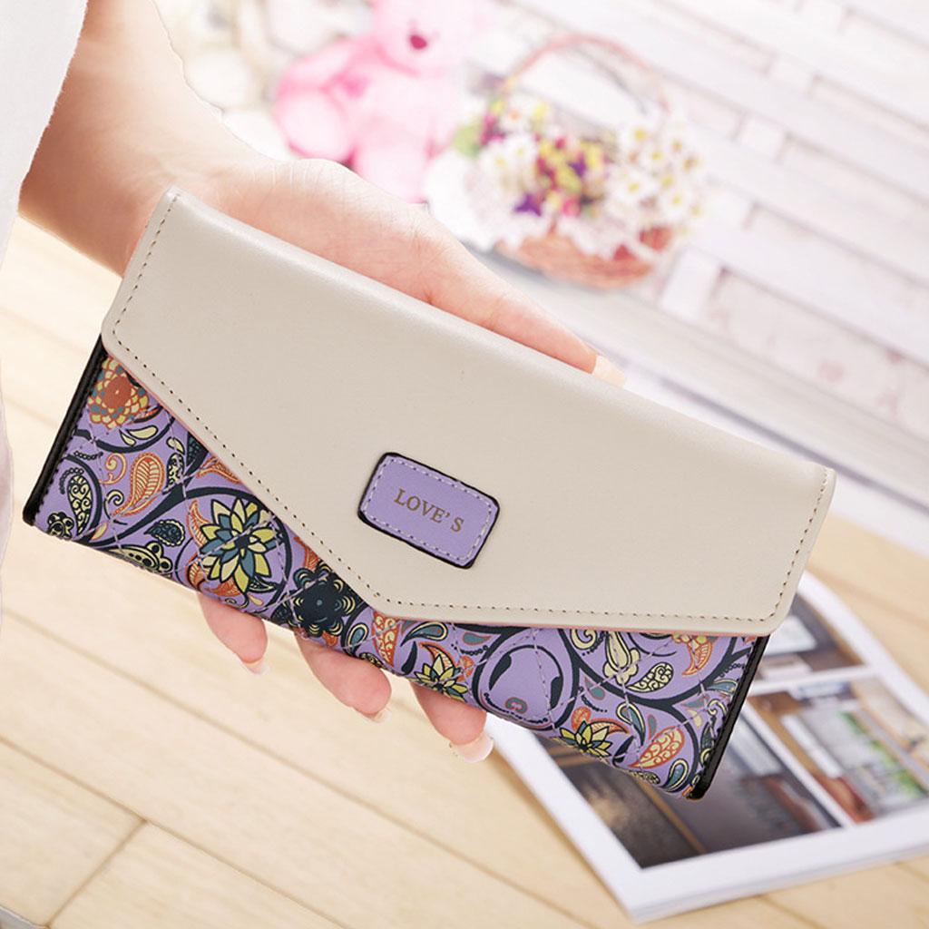 Color Blocking Wallet - Violet
