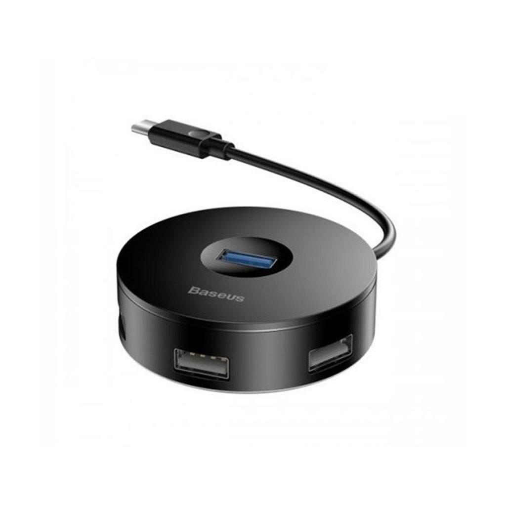 Baseus Cahub-g01 Round Adapter 4 In 1 - Black