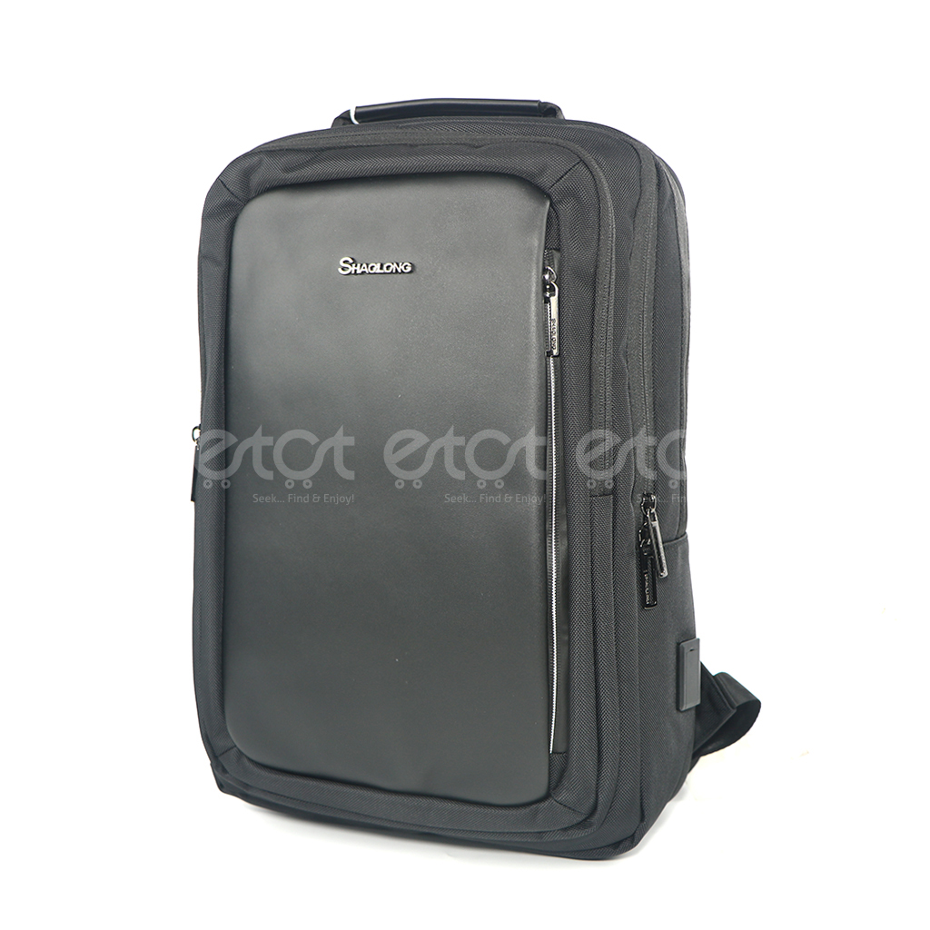 Shaolong Ef52# 17 Inch Premium Quality Laptop Business And Travel Backpack With Usb Port (black)