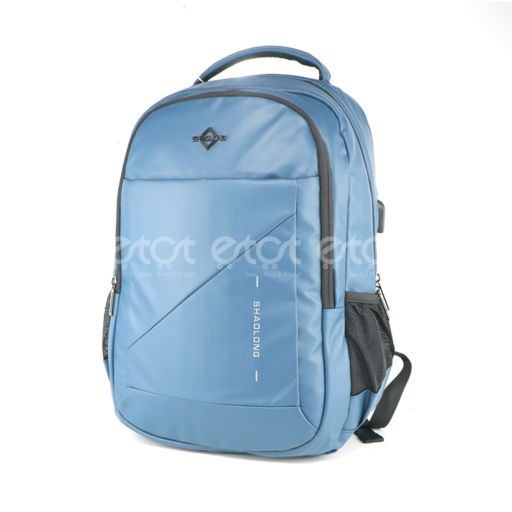 Shaolong Ef84# 18 Inch Inch Hi Qualiti Laptop Business And Travel Backpack With Usb Port (blue)