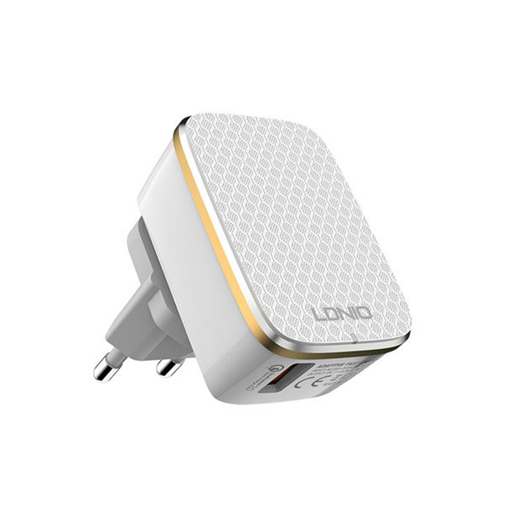 Ldnio Quick Charge 3a Charger With Type-c Cable Eu (a1204q) - White