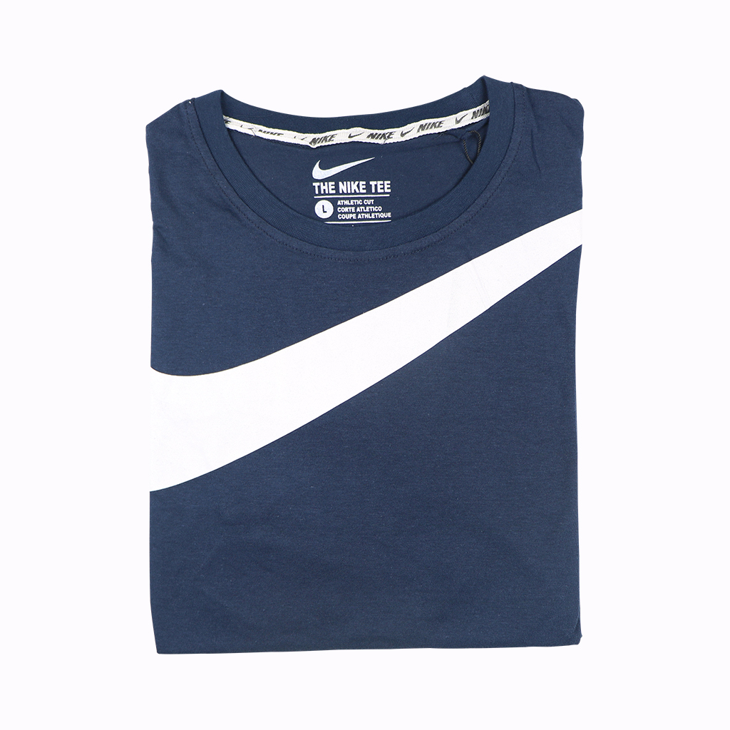 Exclusive Premium Quality Round T-shirt For Men - Navy Blue
