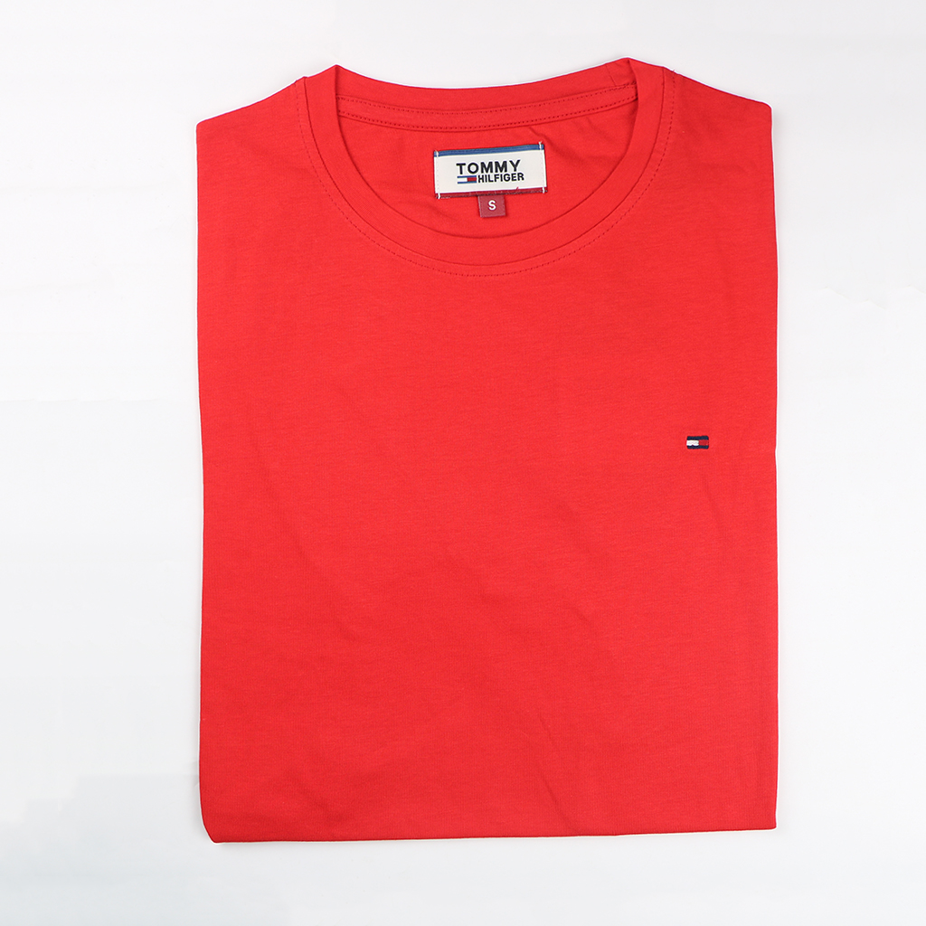 Men's Premium Quality Exclusive Fashionable Short Sleeve T-shirt (red)