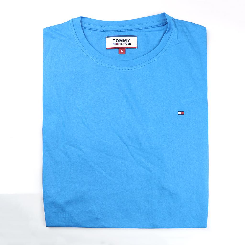 Men's Premium Quality Exclusive Fashionable Short Sleeve T-shirt (blue)