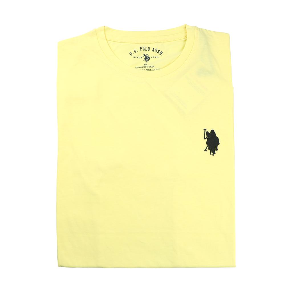 Men's Premium Quality Exclusive Fashionable Short Sleeve T-shirt (yellow)