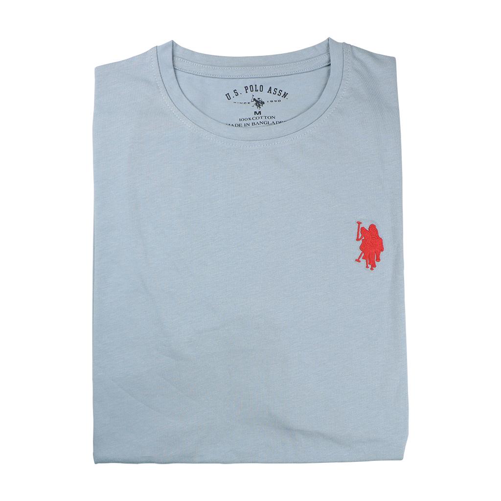 Men's Premium Quality Exclusive Fashionable Short Sleeve T-shirt (sky Blue)