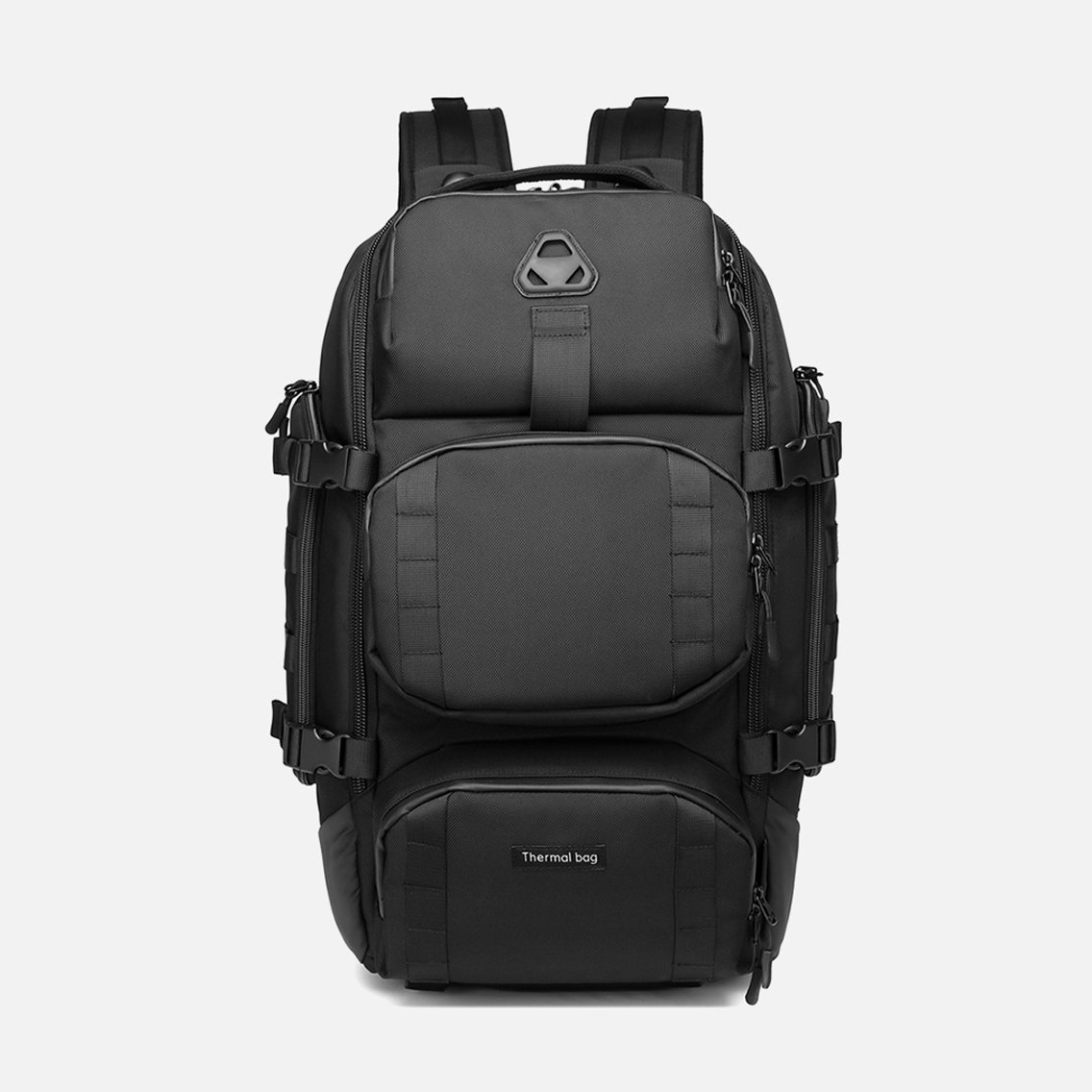 Ozuko 9386 Custom Cooler Large Capacity Outdoor Multifunctional Waterproof Hiking Picnic Travel Backpacks (black)