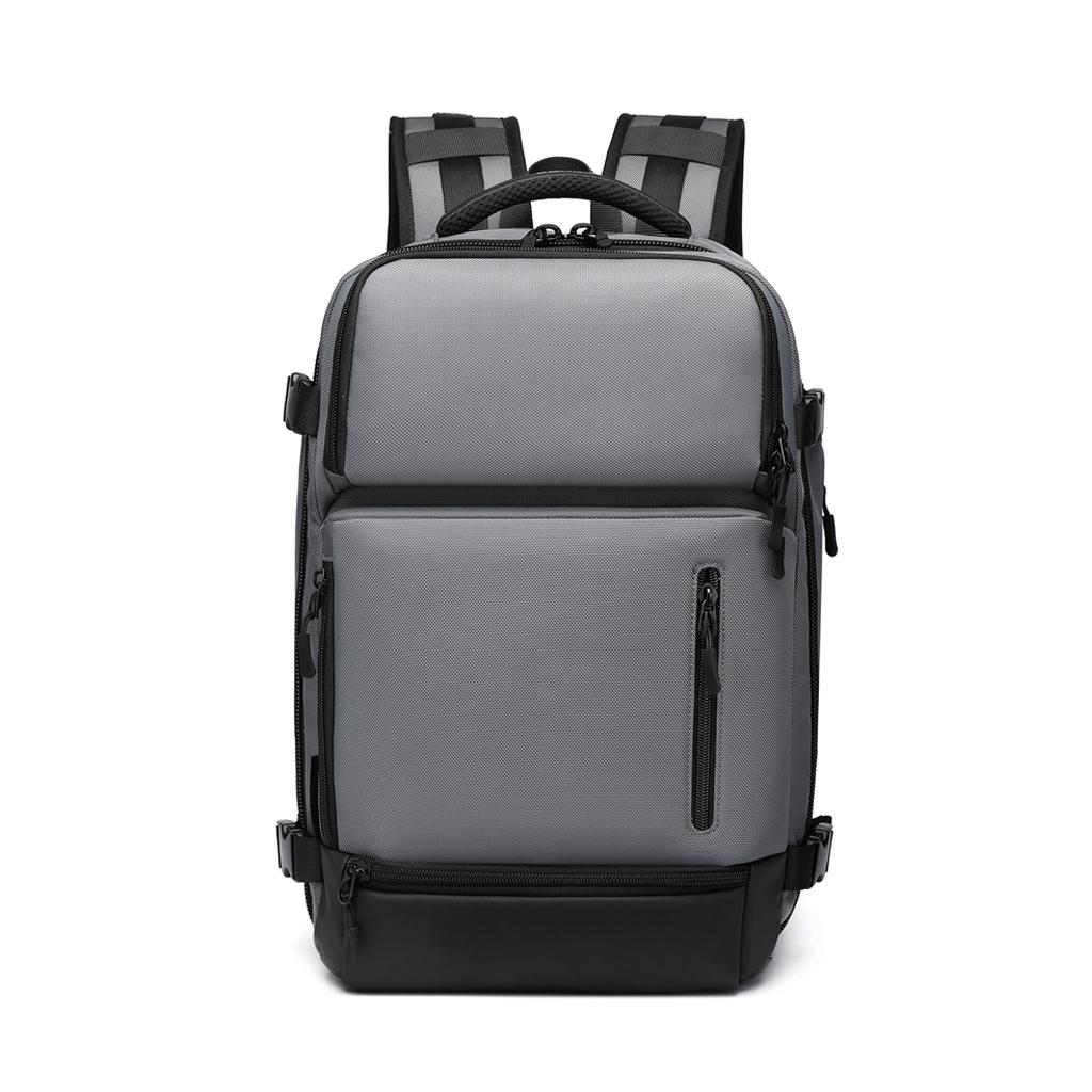 Ozuko 9405l Large Capacity Outdoor Usb Charging Multifunctional Waterproof Laptop, Business And Travel Backpacks (grey)