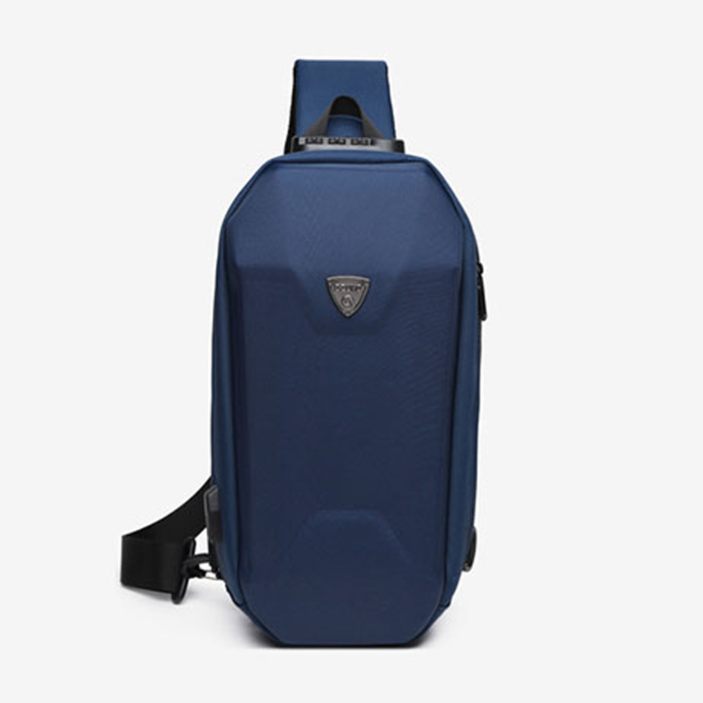 Ozuko 9321 Sublimation Custom Messenger Usb Charging Port Fashion Tactical Stylish And Professional Waterproof Crossbody Shoulder Bags (blue)
