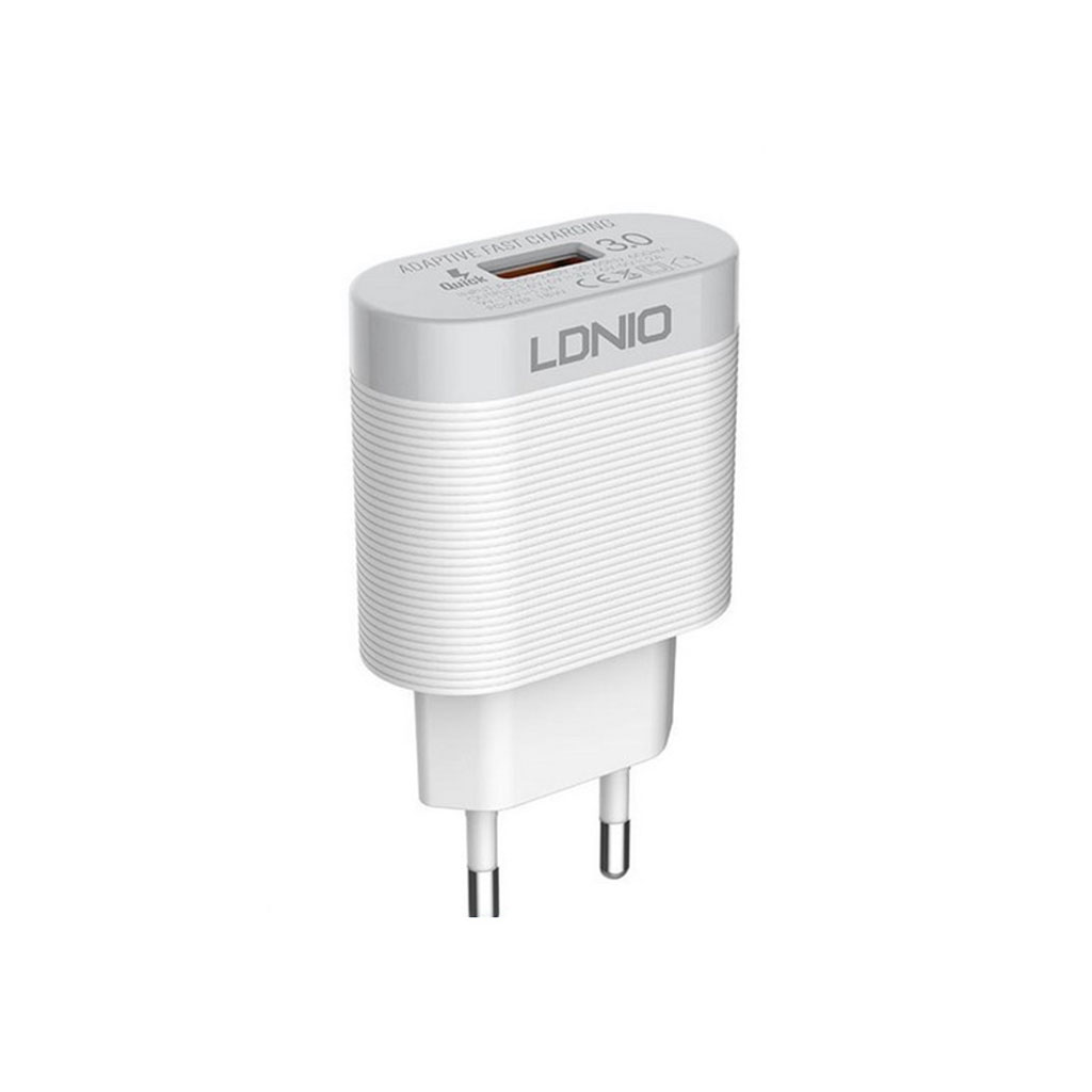 Ldnio A303q 3a Travel Charger With Type-c Cable Eu - White
