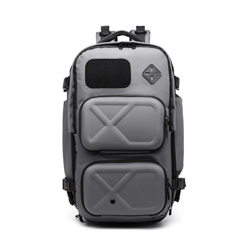 Ozuko 9309l Large Capacity Luxury Design Tacticas Military Waterproof Antirrobo Outdoor Sports Hiking Travel Backpack (gray)