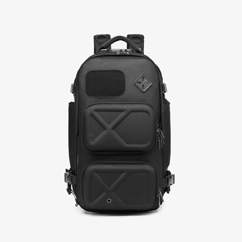 Ozuko 9309l Large Capacity Luxury Design Tacticas Military Waterproof Antirrobo Outdoor Sports Hiking Travel Backpack (black)