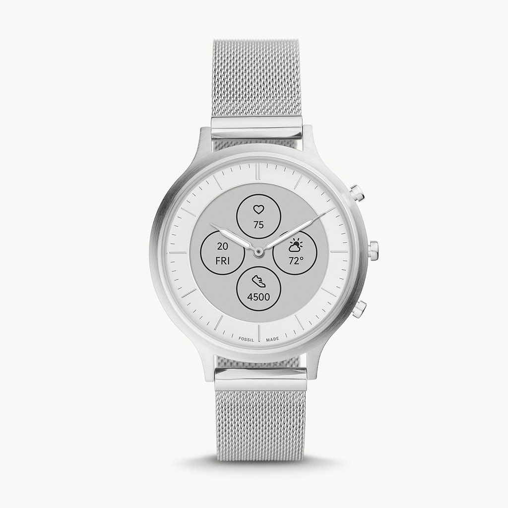 Fossil Hybrid Ftw7030 Charter Stainless Steel Smartwatch