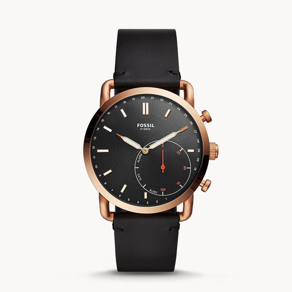 Fossil Hybrid Ftw1176 Commuter Leather Smartwatch