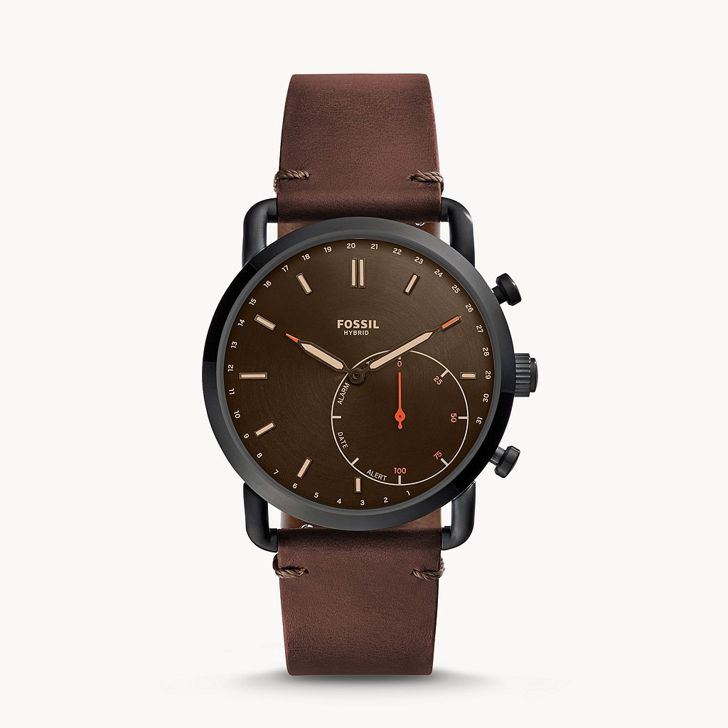 Fossil Hybrid Ftw1149 Commuter Leather Smartwatch