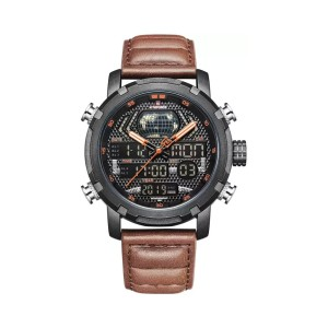 Naviforce Nf9160bol.bn Leather Band Watch For Men