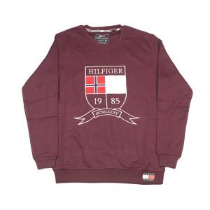 Men's Winter Export Quality Crewneck Sweatshirts (maroon)