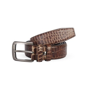 Ssb Croco Printed 100% Genuine Leather Belt Antique Brown Sb-b45