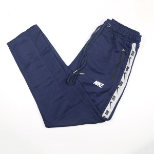 Nike Exclusive Stylish And Fashionable Mesh Fabric Narrow Fit Trouser For Men (navy Blue)