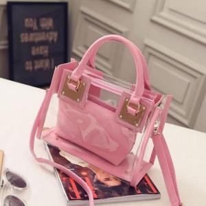 Transparent Handbag - Pink