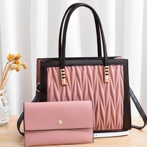 Dual Messenger Dl096 Handbags - Pink