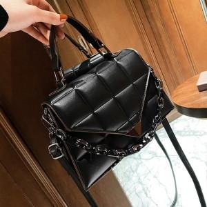 Fashion Leather Handbags - Black