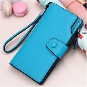Fashion Pu Leather Ladies Wallet - Blue