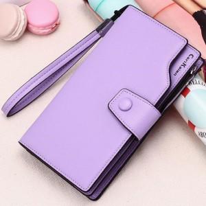 Fashion Pu Leather Ladies Wallet - Purple