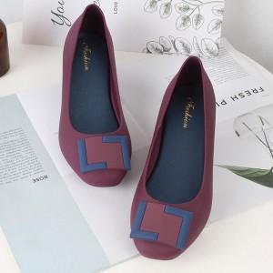 Women Wedge Shoes 912 - Purple