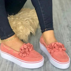 Thick Soled Flat Converse For Women - Pink