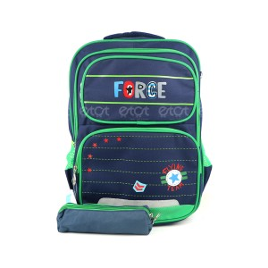 Zhiyou Force 640 18l School Backpack With Pouch (navy Blue)